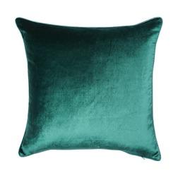 Плюшевая декоративная подушка изумрудного цвета NIGELLA 50*50 (Marine)