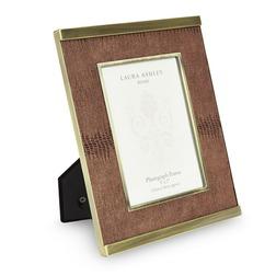 Рамка для фото с имитацией змеиной кожи FAUX LEATHER FRAME 21*26 (Brass)