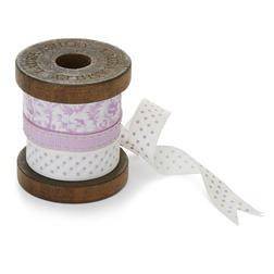 Катушка с ленточками в розовых оттенках AMETHYST RIBBON REEL 8*6,5 (Multi)