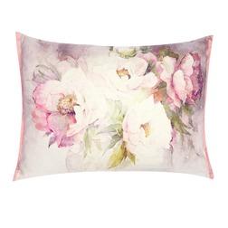 Большая декоративная подушка в крупные цветы PEONIES 40*50 (Cyclamen)