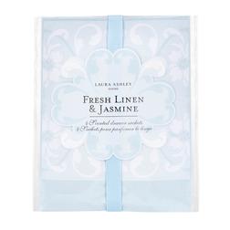 Ароматическая бумага с запахом жасмина розы и бергамота FRESH LINEN DRAWER SACHETS 13*14,5*1,5