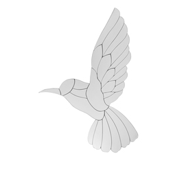 Настенный декор птица колибри HUMMINGBIRD 62*40 (Mirror)