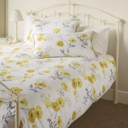 Красивый набор постели в желтые маки с двойным пододеяльником POPPY MEADOW DB 200*200, 50*75 set