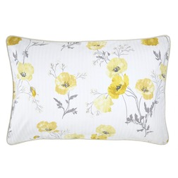 Наволочка в желтые цветы мака POPPY MEADOW  50*75 (Primrose)