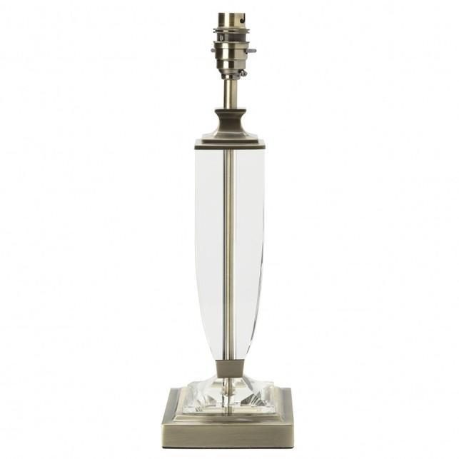 Высокая база с квадратным основанием из металла и стекла CARSON GRAND 47*14 (Brass)