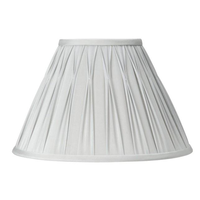 Абажур классической формы самого большого размера серебристого цвета 16 FENN (Silver)