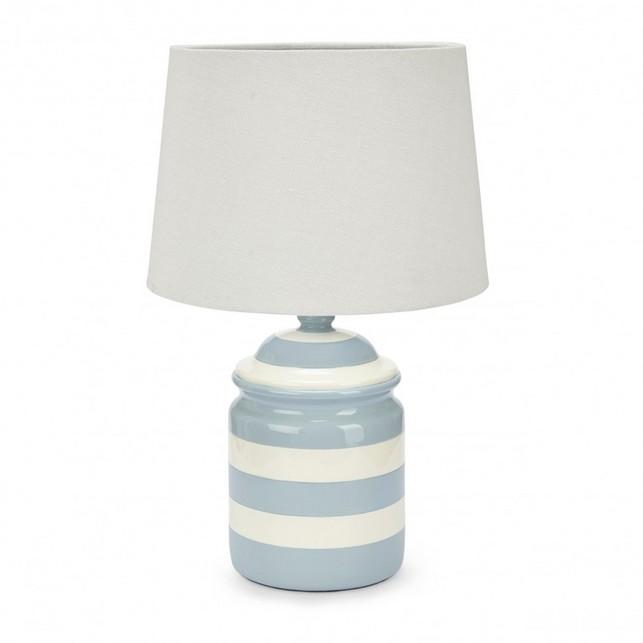 Настольная лампа в голубых и белых оттенках TOBERMORY 41*26 (Blue/White)