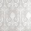 Тонкие бумажные обои светло-серого цвета с рисунком белого цвета JOSETTE (White/Dove Grey)