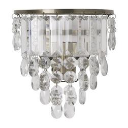 Настенное бра со стеклянными подвесками в форме овальных капель ADELPHI 21*20 (Glass)