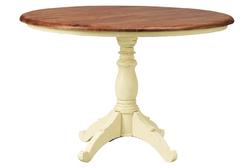 Круглый обеденный стол с неокрашенной столешницей BRAMLEY ROUND H78 Ø120 (Cream)