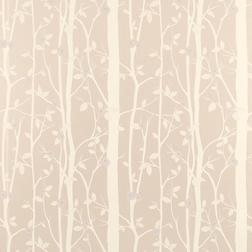 Бумажные обои бежевого цвета с растительным рисунком COTTONWOOD (Natural)