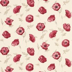 Бумажные обои в яркие цветы мака FRESHFORD (Cranberry)