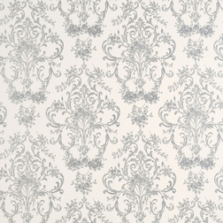Бумажные обои с утонченным рисунком серебряного цвета ASTON (Silver)