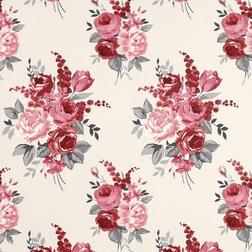 Бумажные обои в цветы Chiswick (Cranberry)