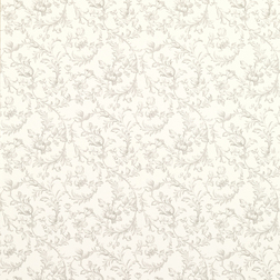 Тонкие обои из бумаги с цветочным рисунком светло-серого цвета IRONWORK SCROLL (Dove Grey)