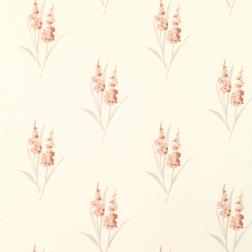 Бумажные обои в цветы гладиолуса светло-кораллового цвета GLADIOLI (Coral)