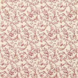 Обои с цветочным рисунком красного цвета IRONWORK (Cranberry)