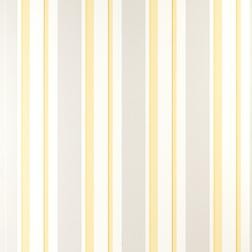 Бумажные обои в вертикальную полоску желтого и серого цвета EATON STRIPE (Camomile)