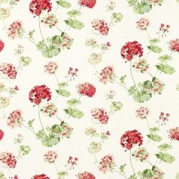 Бумажные обои с ярким рисунком цветов герани GERANIUM (Cranberry)