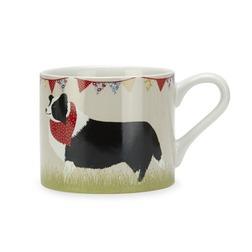 Чашка с собачкой черно-белого окраса и красным платком SHEEPDOG MUG 8*9 (Multi)