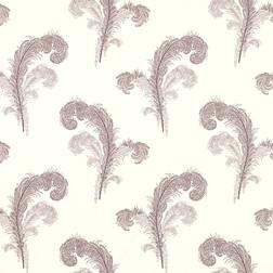 Бумажные обои бежевого цвета с принтом в перья SWANSBROOK (Amethyst)