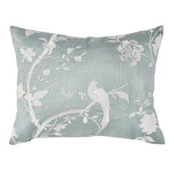 Прямоугольная подушка голубого цвета с роскошной вышивкой белого цвета FARLEIGH EMB 30*40 (Duck Egg)