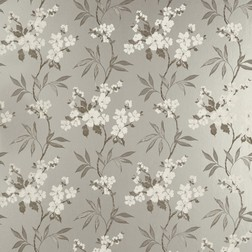 Красивые бумажные обои серебристого цвета с цветочным рисунком CALISSA (Pewter)