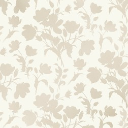 Красивые бумажные обои в силуэты цветов тюльпана GOSFORD MEADOW (White)