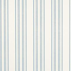 Тонкие бумажные обои в вертикальную полоску голубого цвета HADLEY STRIPE (Seaspray)