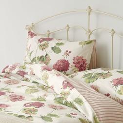 Комплект постели с большим пододеяльником в цветы герани GERANIUM KG 230*220, 50*75 set of-2