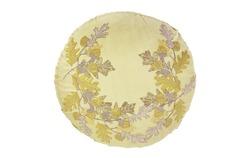 Круглая декоративная подушка желтого цвета OAKSHAW ROUND Ø58 (Linen)