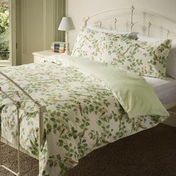Комплект постели украшен птицами и растительностью AVIARY GARDEN DB 200*200, 50*75 set of-2