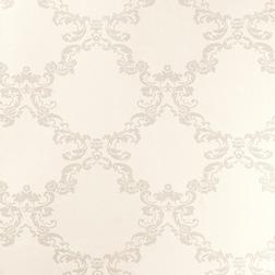 Обои с крупным рисунком светло-бежевого цвета WILTON (Pale Linen)