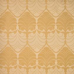 Ткань для штор с крупным рисунком золотистого цвета ALEXANDER (Gold)