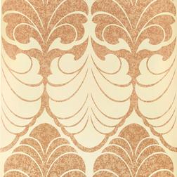 Обои с крупным рисунком медно-золотистого цвета ALEXANDER  (Copper)