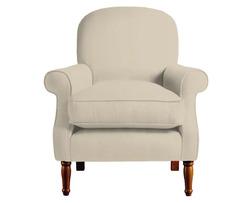 Мягкое английское кресло в ткани бежевого цвета CAMBRIDGE 89*78*88 (Band D/Orla Natural)