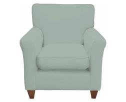 Красивое английское кресло в ткани голубого цвета PERTH 82*82*90 (Band C/Tinsley Duck Egg)