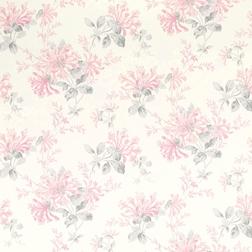 Бумажные обои в розовые цветы HONEYSUCKLE (Cyclamen)