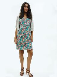 Красочное платье из хлопка со сборками на талии MD 250