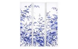 Настенный декор из трех частей с цветочным принтом CHINA TRIPLE WALL ART 80*20 (Blue)