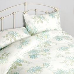 Набор постели с большим пододеяльником в голубые цветы HONEYSUCKLE KG 230*220, 50*75 set of-2