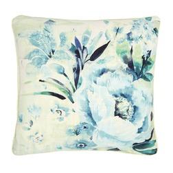 Большая декоративная подушка в крупные цветы FRANCESCA 50*50 (Pale Topaz)