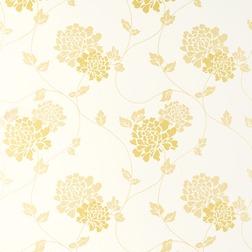 Обои в крупные цветы хризантемы ISODORE (Camomile/White)