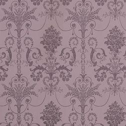 Бумажные обои фиолетового цвета с роскошным цветочным рисунком JOSETTE (Grape)