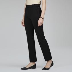 Стрейчевые брюки темно-синего цвета в строгом стиле TR 131