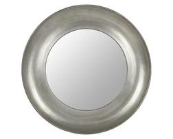 Круглое зеркало в реме серебристого цвета CORINNE Ø100 (Silver)