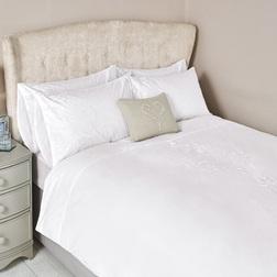 Комплект постели большого размера с вышивкой JOSETTE EMBROIDERY KG 230*220, 50*75 set of-2 (White)