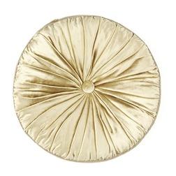 Круглая декоративная подушка золотистого цвета NIGELLA ROUND Ø37 (Antique Gold)