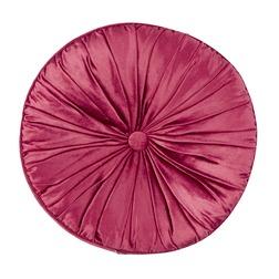 Круглая декоративная подушка бордового цвета NIGELLA ROUND Ø37 (Cranberry)