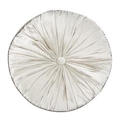 Круглая декоративная подушка серо-бежевого цвета NIGELLA ROUND Ø37 (Marble)